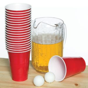 Beer Pong Game and Beer