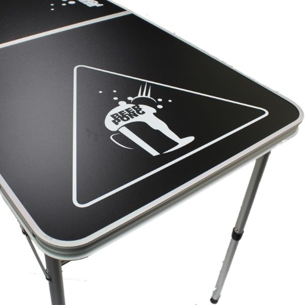 Black Beer Pong Table example of decals