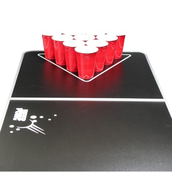 Black Classic Foldable Beer Pong Table