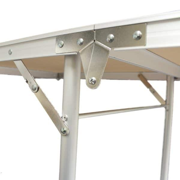 Close up of beer pong table frame