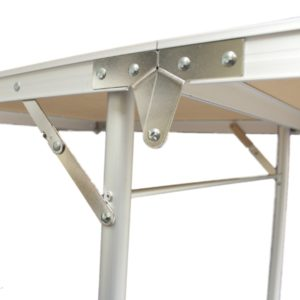 White Beer Pong Table - Example of the folding mechanism