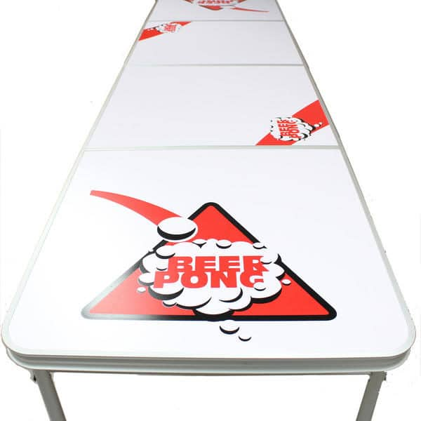 White Beer Pong Table - Front